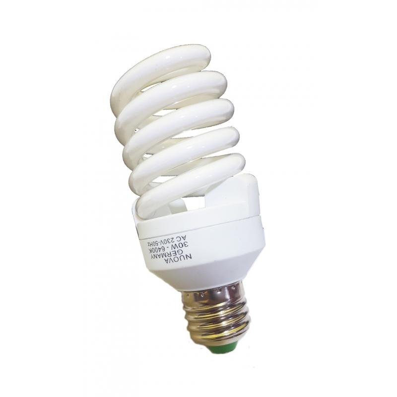 Lampadina basso consumo luce bianca fredda 30w 150w e 27 for Lampade a led e 27