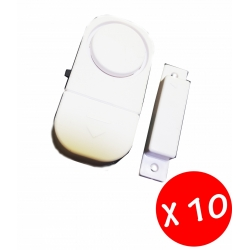 10 x MINI ALLARME KIT COMPLETO PER PORTE E FINESTRE BATTERIE INCLUSE