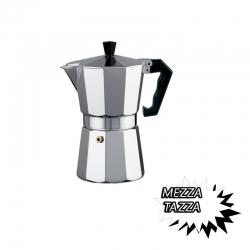 CAFFETTIERA CLASSICA IN ALLUMINIO 1/2 MEZZA TAZZA