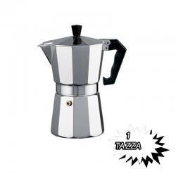 CAFFETTIERA CLASSICA IN ALLUMINIO 1 TAZZA MANICO ANTISCOTTATURE