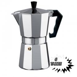 CAFFETTIERA CLASSICA IN ALLUMINIO 6 TAZZE CAFFè