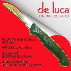"""PELAPATATE PELATUTTO COLTELLO IN ACCIAIO INOX """" DE LUCA COLTELLERIE """""""