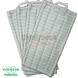 4 PANNI FUGHE ORIGINALI VORWERK FOLLETTO PULILAVA MF 520 530 PER SP520 SP530