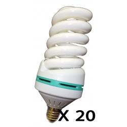 STOCK 20 PEZZI LAMPADINA BASSO CONSUMO DA 50 WATT 200 WATT ELICE LUCA BIANCA FREDDA E27